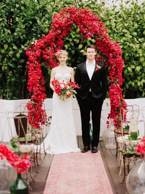 Bougainvillea Wedding Styling