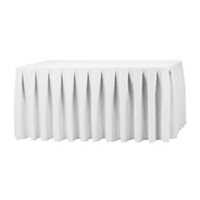 White Pleated Table Skirting